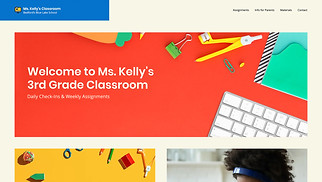 All website templates - Remote Learning Classroom
