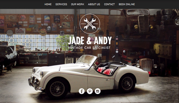 Bedrijven website templates – Oldtimergarage
