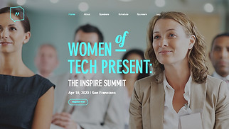 Events website templates - Women's Conference