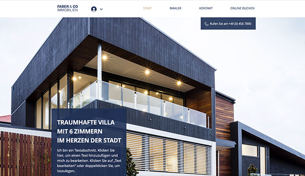 Immobilien website templates – Immobiliengesellschaft