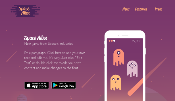 Alien Invasion Free Website Template Free