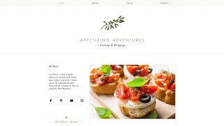 Restaurants & Food website templates - Recipes Blog