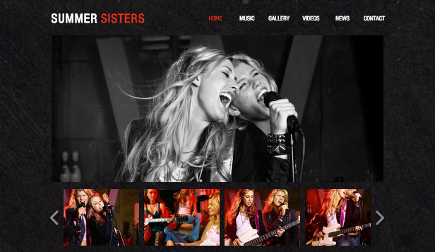 Musikk website templates – Country rock