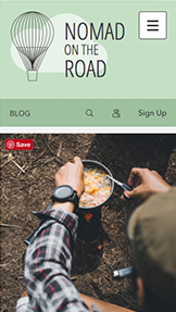 Lifestyle website templates – Reiseblog