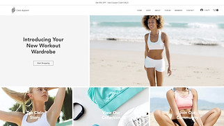 Sports & Outdoors website templates - Athletic Apparel