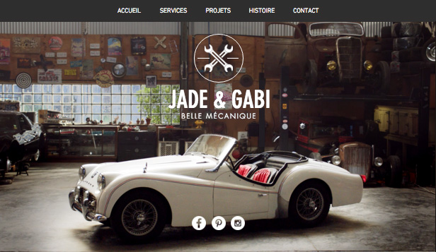 Travaux et Rénovations website templates – Garage Vintage