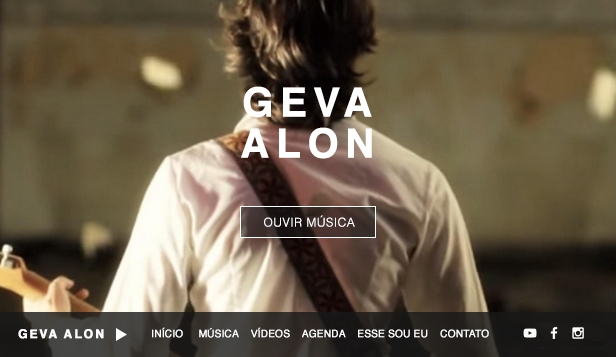 Cantores e músicos website templates – Cantor e Compositor Folk