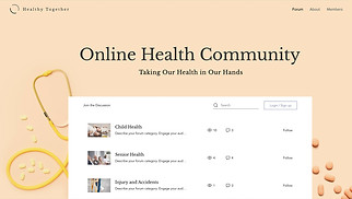 All website templates - Online Health Community