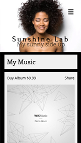 Soloartist website templates – Min musiksida