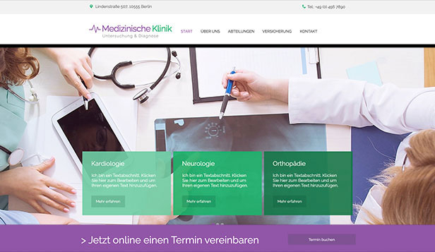 Gesundheit & Wellness website templates – Klinik