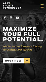 Sport i fitness website templates – Konsultant psychologii sportu