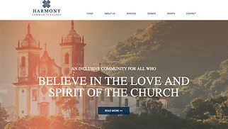 Religion website templates - Church