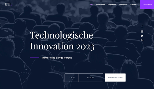 Landingpage website templates – Konferenz
