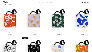 Online Store website templates - Tote Bag Store