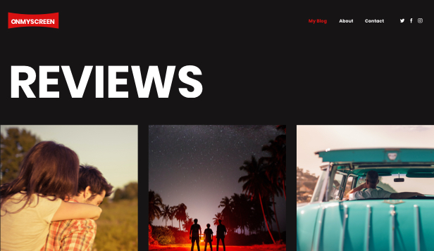 Alt website templates – Movie Blog