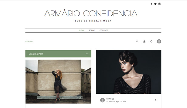 Moda e Beleza website templates – Blog de Moda