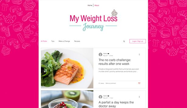 Sport a wellness website templates – Blog o zdravém životě