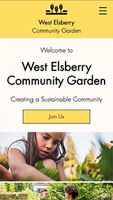 NOWE! website templates – Community Garden