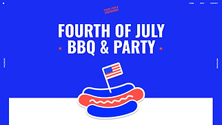 Events website templates - Fourth of July Party