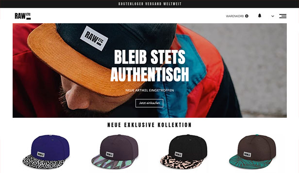Stil & Mode website templates – Herren-Caps