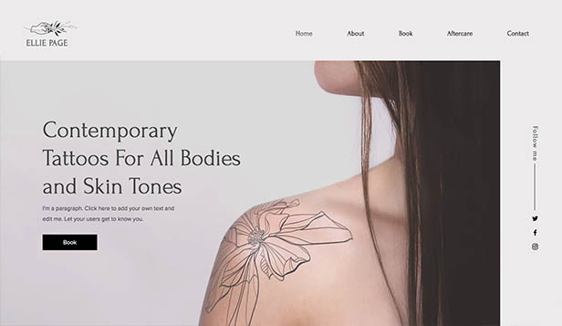 Kreative Künste website templates – Tattoo-Künstler/in