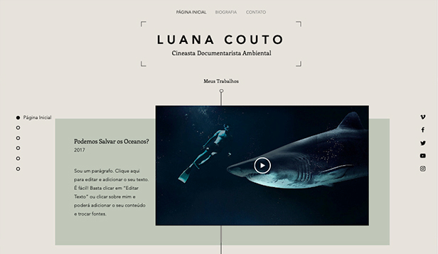 Artes Criativas website templates – Filmografia