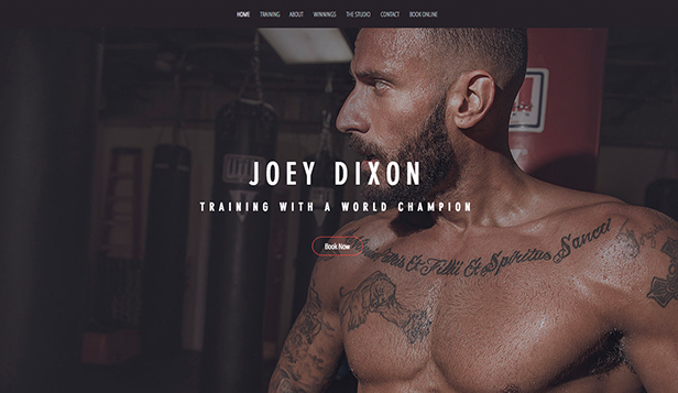 Sport i fitness website templates – Bokser