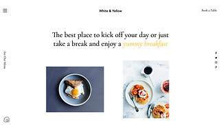 Cafe & Bakery website templates - Breakfast Cafe