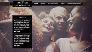 Restaurants & Food website templates - Night Club