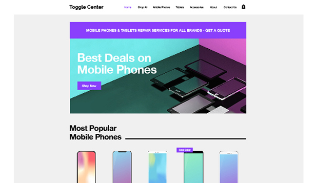 電子機器 website templates – Phone & Tablet Store