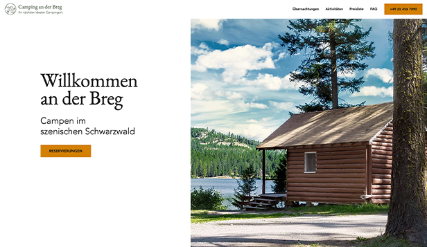 Reisen & Tourismus website templates – Campingplatz