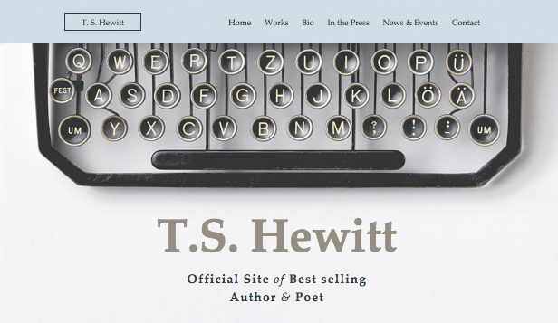 Literatur website templates – Autor & Poet