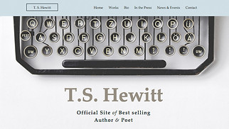 Creative Arts website templates - Author & Poet