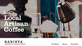 Restaurants & Food website templates - Coffee House