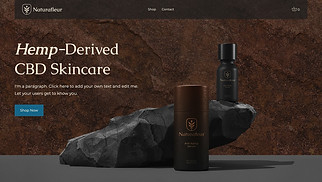 CBD website templates - CBD Skincare Brand