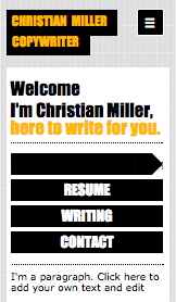 Portfolio i CV website templates – CV Copywriter