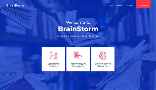 Школы и университеты website templates – Education Blog