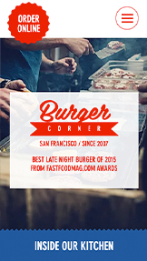Restaurants website templates – Le coin burger