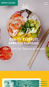 Restaurant og mat website templates – Poké-restaurant