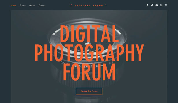 Samfunn website templates – Digitalfotografforum