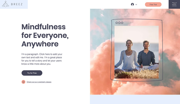 Tutte template – Mindfulness & Meditation Virtual Studio