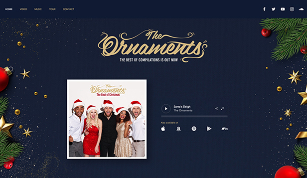 コミュニティ website templates – Christmas Music Band
