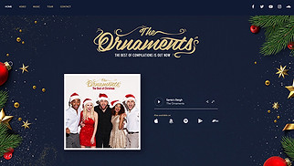 Religion website templates - Christmas Music Band