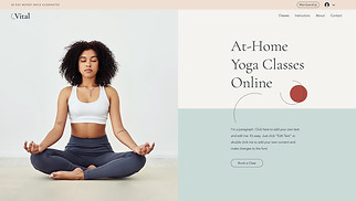 Health & Wellness website templates - Online Yoga Classes