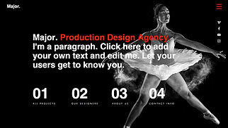 Design website templates - Production Design Agency