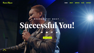 All website templates - Motivational Speaker