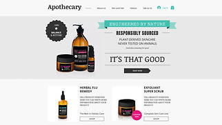Beauty & Wellness website templates -  The Apothecary