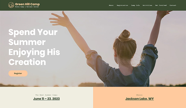 Templates de site web pour Religion - camp biblique
