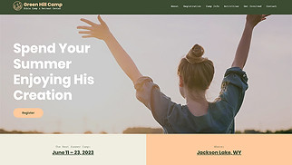Religion website templates - Bible Camp