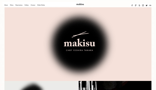 Restaurant og mat website templates – Japansk restaurant